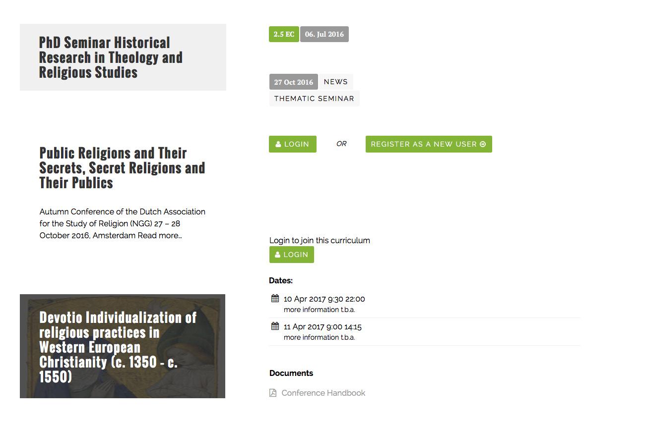 Verschillende elementen die op de website gebruikt worden.