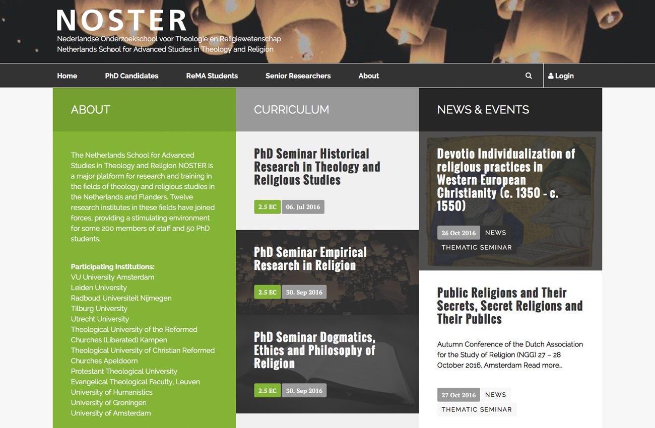 Homepage ontwerp.