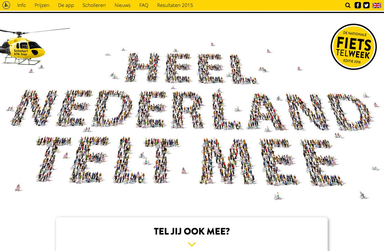 Fiets Telweek 2016 campagnewebsite