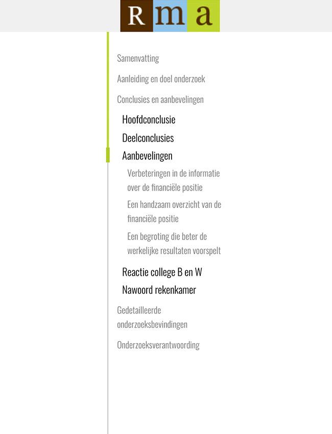 Flexibel menu.
